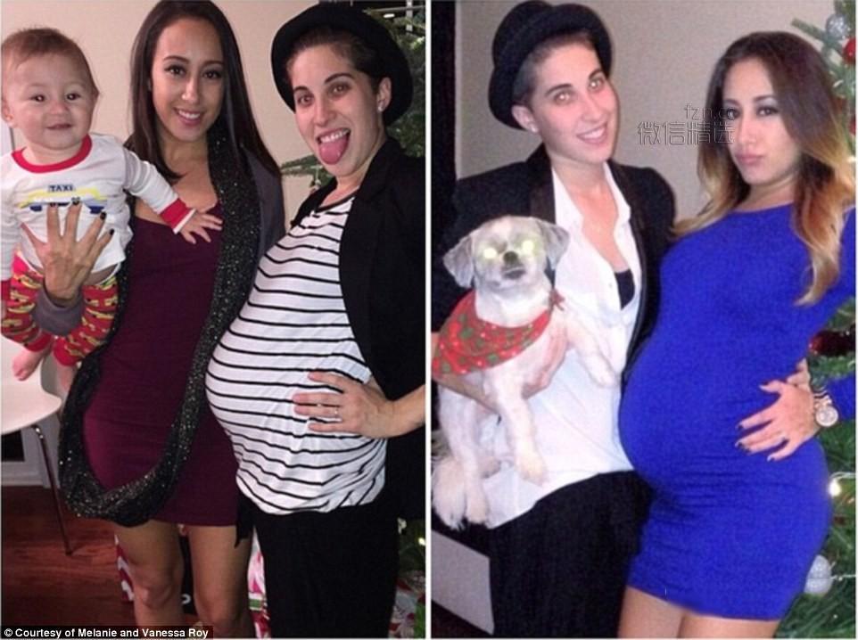 一对女同性恋先后怀孕,他们的幸福家庭照被刷爆了!