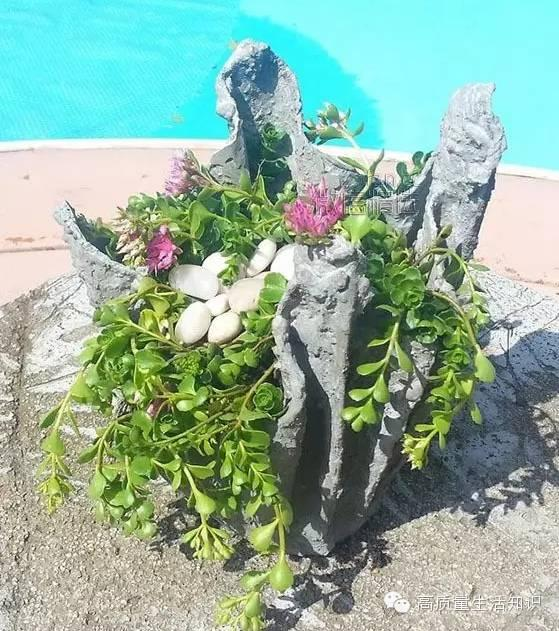 手工DIY:一条小小的毛巾,就可以做出如此美观的花盆!美到极致了