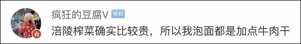 """台湾""""砖家""""逗乐网友:大陆人连榨菜也吃不起了"""