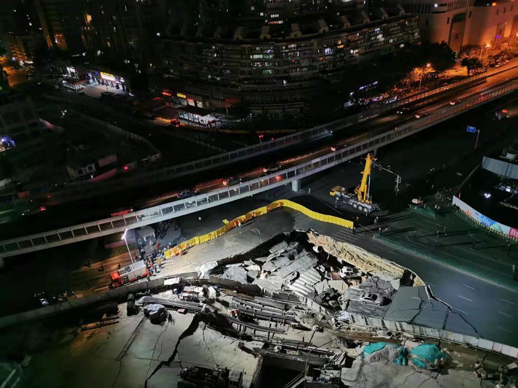 突发!厦门地铁2号线吕厝路口施工现场发生路面塌陷,尚未发现人员伤亡