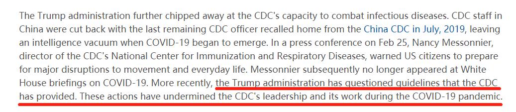 科学家屡受打压 疾控中心沦为摆设 《柳叶刀》向特朗普政府开炮