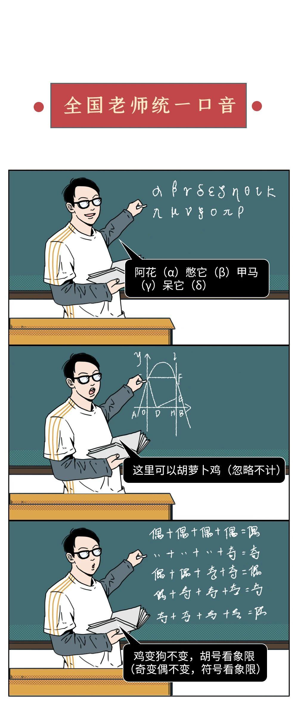一起来看下面这组漫画 里面有没有你的老师