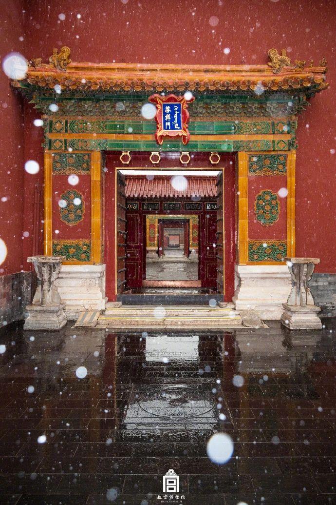 北京初雪!你们等的故宫照片来了~