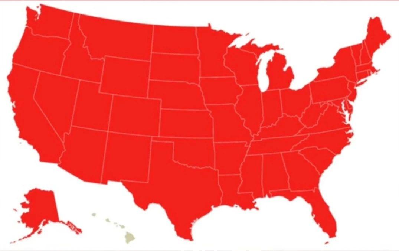 美国新冠肺炎累计确诊超1100万例,几乎全红了-小苏-每日微信精选